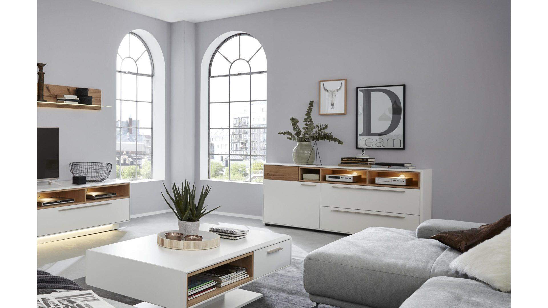 interliving wohnzimmer serie 2102 sideboard helles asteiche