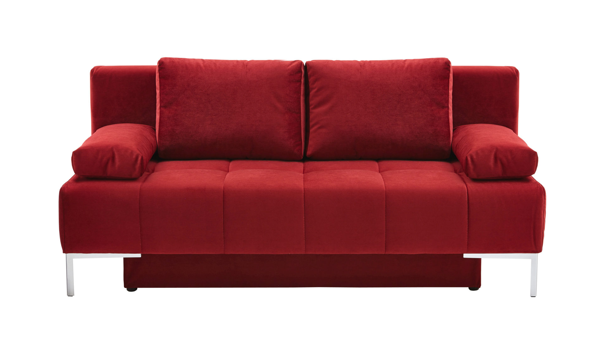 Bequemes Bequemes Schlafsofa Bzw Schlafcouch Roter Bezug 55 6358
