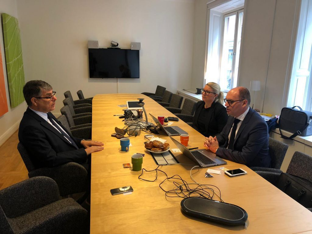 Home Affaire Stockholm Iraqi Ambassador In Stockholm Meets Assistant Director Of