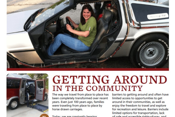 Graphic: Screenshot of Partnering Together Magazine, issue 4.3 - Getting Around in the Community