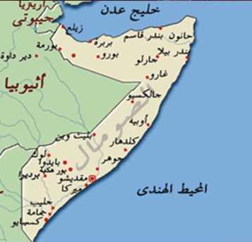 خريطة الصومال