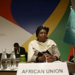 Nkosazana Dlamini-Zuma, chairperson of the African Union Commission, attends the Valletta Summit on Migration in Valletta