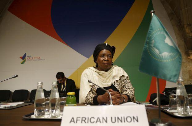 Nkosazana Dlamini-Zuma, chairperson of the African Union Commission, attends the Valletta Summit on Migration in Valletta
