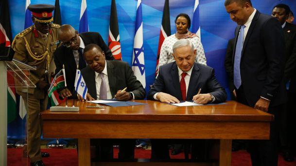 إسرائيل وكينيا توقعان اتفاقا أمنيا_أوهورو_ونتياهو_27فبراير2016