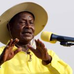 File photo shows Uganda's President Museveni addresses a campaign rally in the capital Kampala