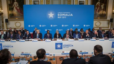 Britain's Prime Minister Theresa May chairs the London Somalia Conference' at Lancaster House, May 11, 2017. REUTERS/Jack Hill/Pool