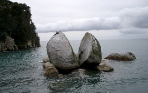 Rock in midst of water