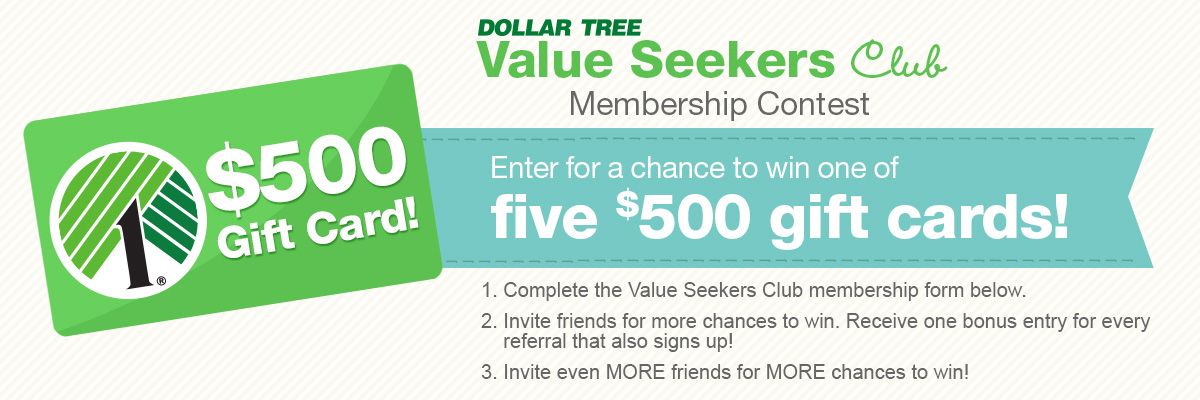 5 FREE $500 Dollar Tree Gift Cards! Mojosavings