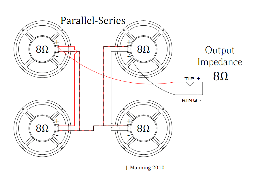 wiring guitar speakers in series parallel