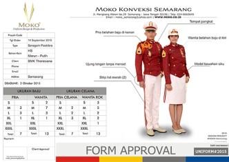 Supplier Pakaian Paskibra SMK Theresiana, Semarang