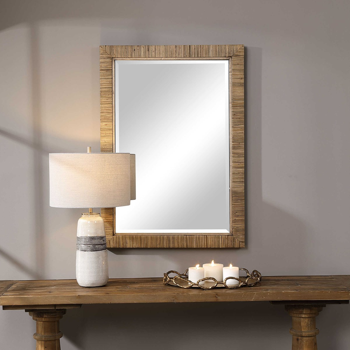 Uttermost Cape Natural Rattan Mirror 09671 Furniture Lightning Interior Decor Online Store Ontario