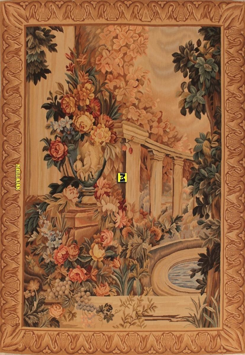Tappeti Aubusson Vintage Aubusson Tapestry 172x150 Very Fine Size 200x150 Color Background