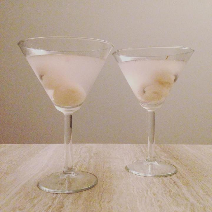 Whipped up a few lychee and blueberry cocktails to celebratehellip