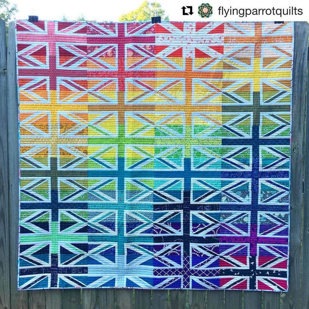 Look at this incredible creation by flyingparrotquilts using my UnionJackhellip