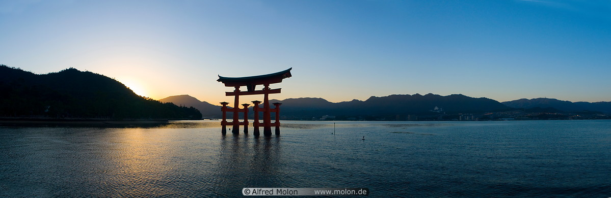 Www Home De Photo Of Torii Gate At Sunset Panoramic View. Torii
