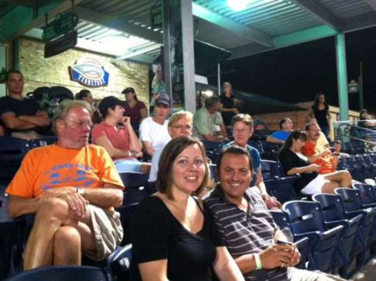 At the baseball game in Greenville