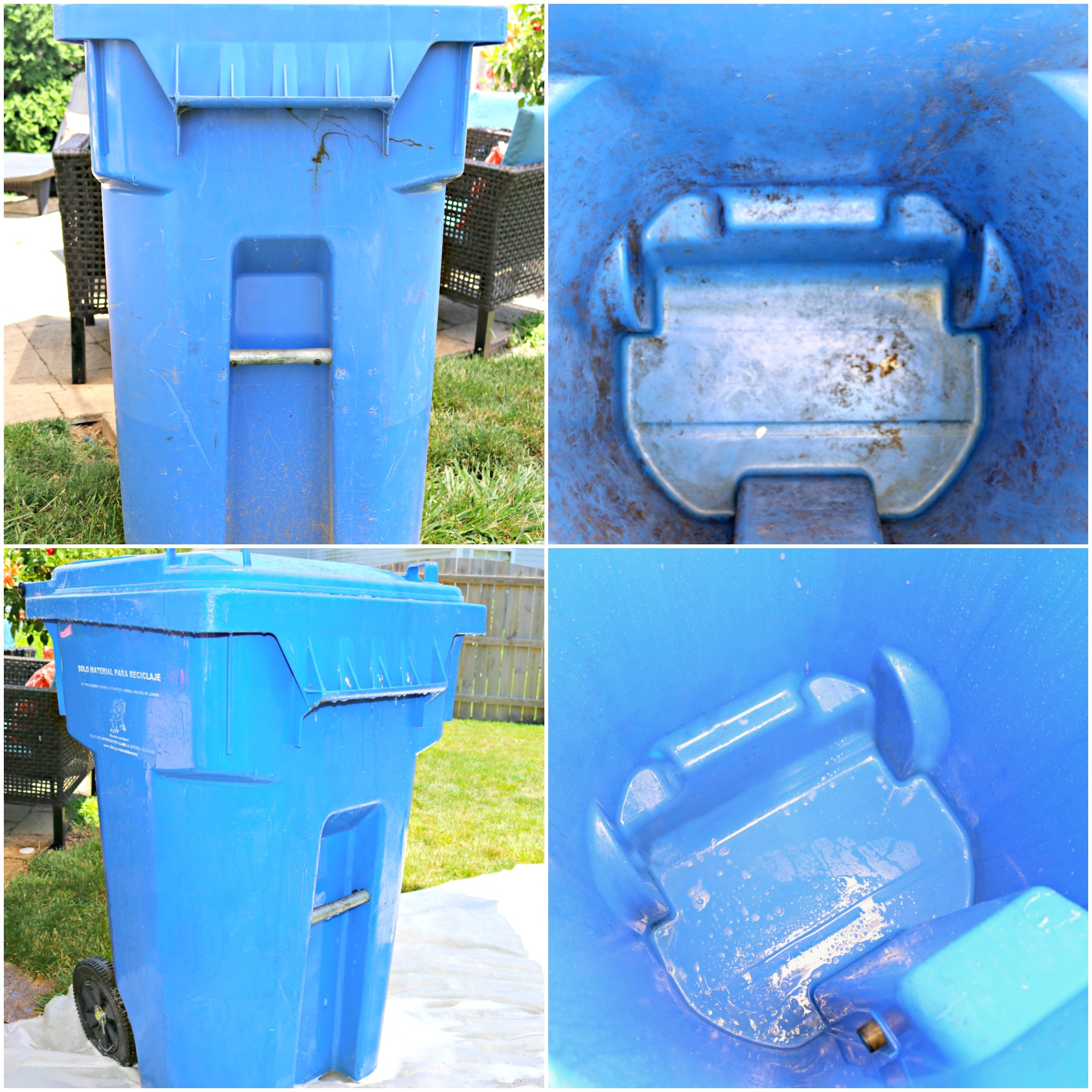 Cool Trash Bins How To Clean Outdoor Garbage Cans And Keep Them Clean Mom 4 Real
