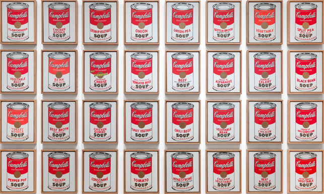 Cuadro Sopa Campbell Moma | Serial & Singular: Andy Warhol's Campbell's Soup Cans