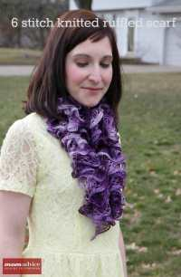 Easy Knitted Ruffled Scarf With Sashay Yarn - MomAdvice