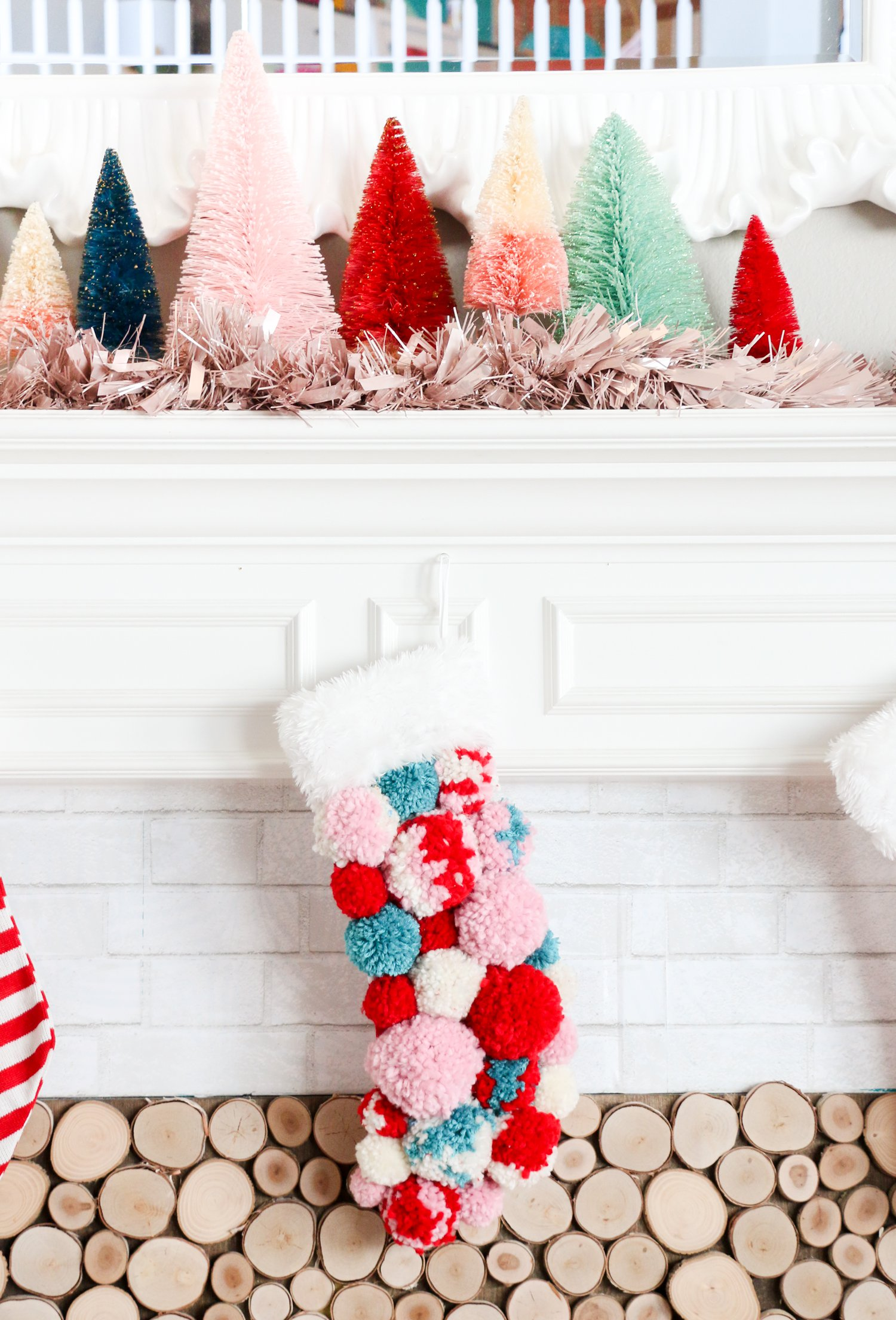 Christmas Tree Decorations Fluffy Unicorn Ornaments Fur Ball Pom Pom Horse Pendant New Year Gifts Decorations 2019 Momadvice