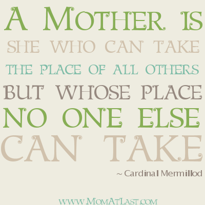 no one can replace mother mom quote mom at last