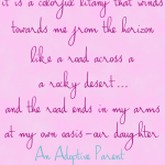 Adoption Quote Colorful Litany