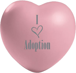 I Love Adoption Heart for The Adoption Kit