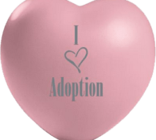 I Love Adoption Stress Ball