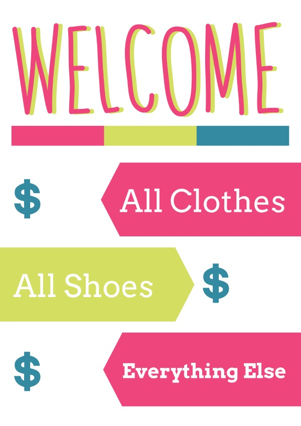 Free (fun) Garage Sale Printables for YOUR Garage Sale