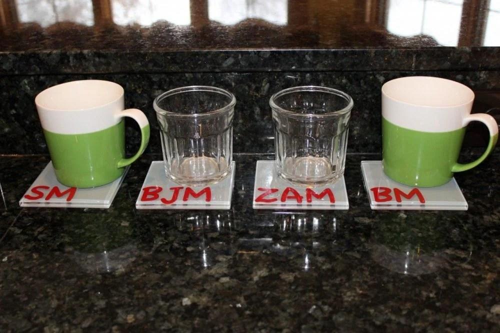 Everyone's cup/glass/mug has a home!