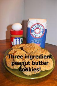 Three ingredient cookie!