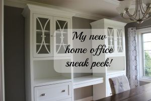 My new home office sneak peak!  Not a dining room anymore!!