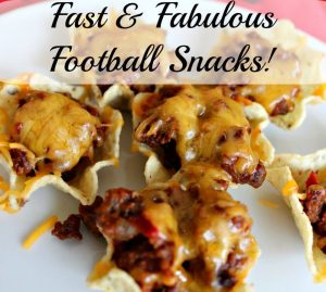 Fast and fabulous football snacks