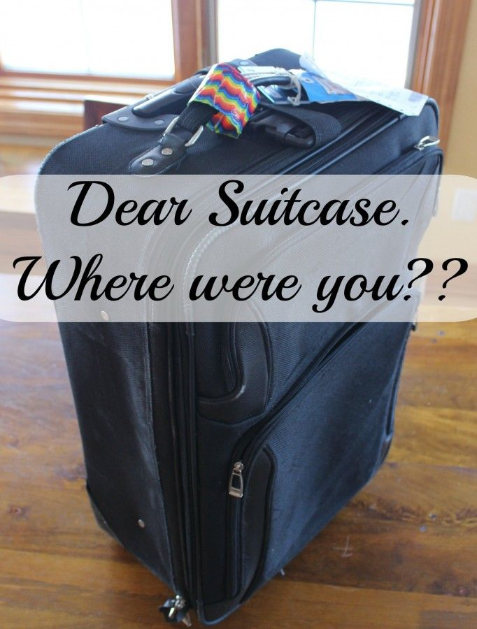 Dear Suitcase, Where Did You Go? The story of my lost suitcase