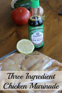 Three ingredient chicken marinade