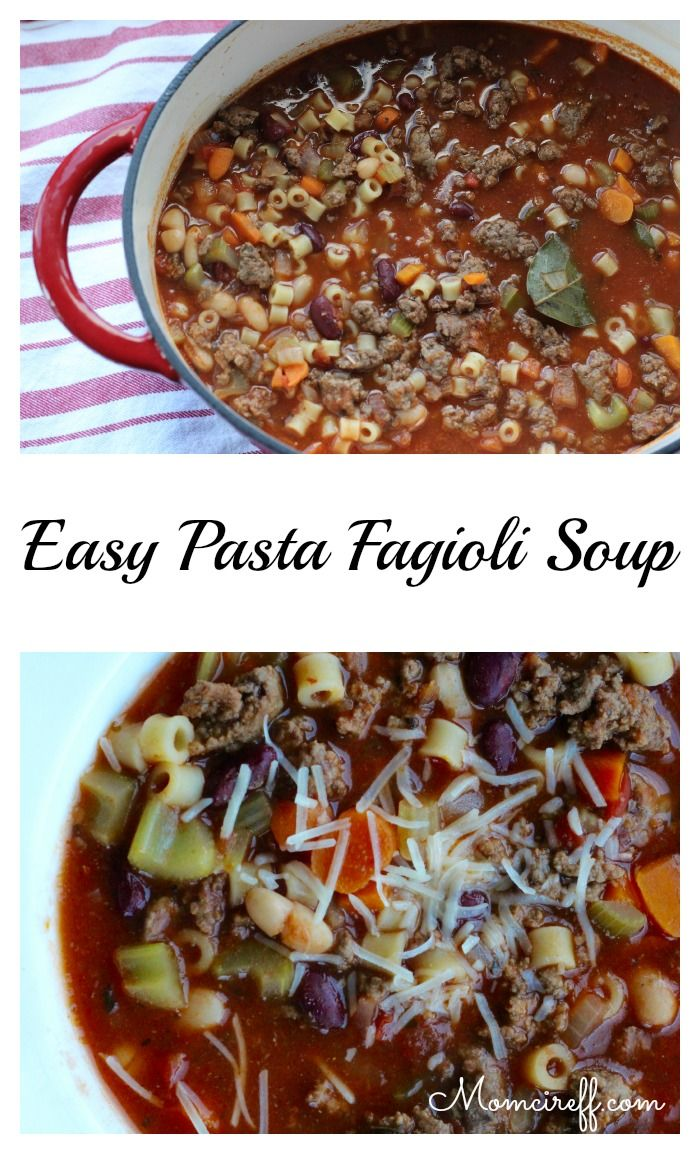 Easy Past Fagipoli. A wonderful flavorful and hearty soup.