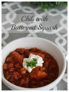 Chili with butternut squash