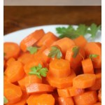 Glazed carrots. A delicious side dish.