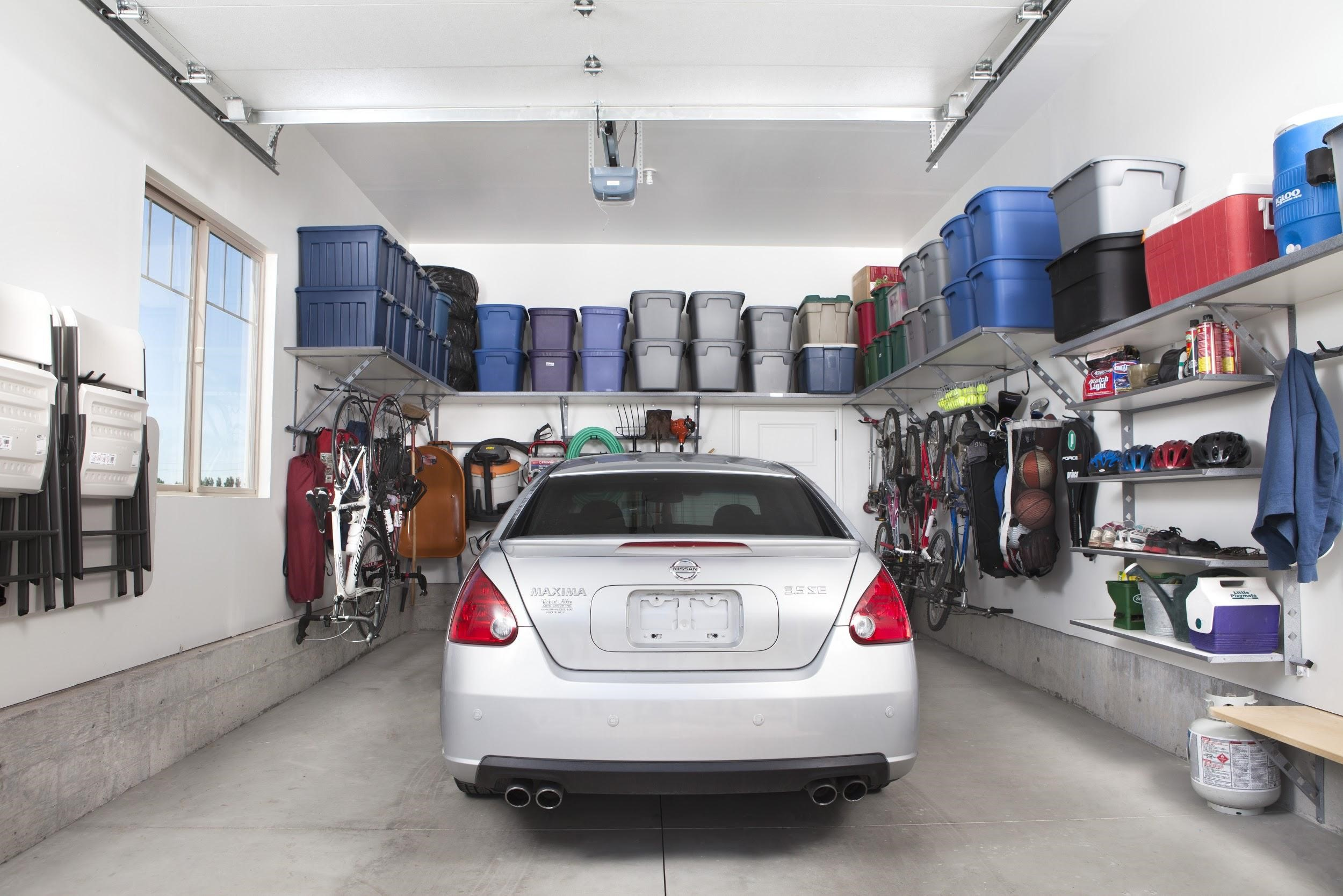 Garage Storage Boxes Garage Storage Solutions For The Busy Family