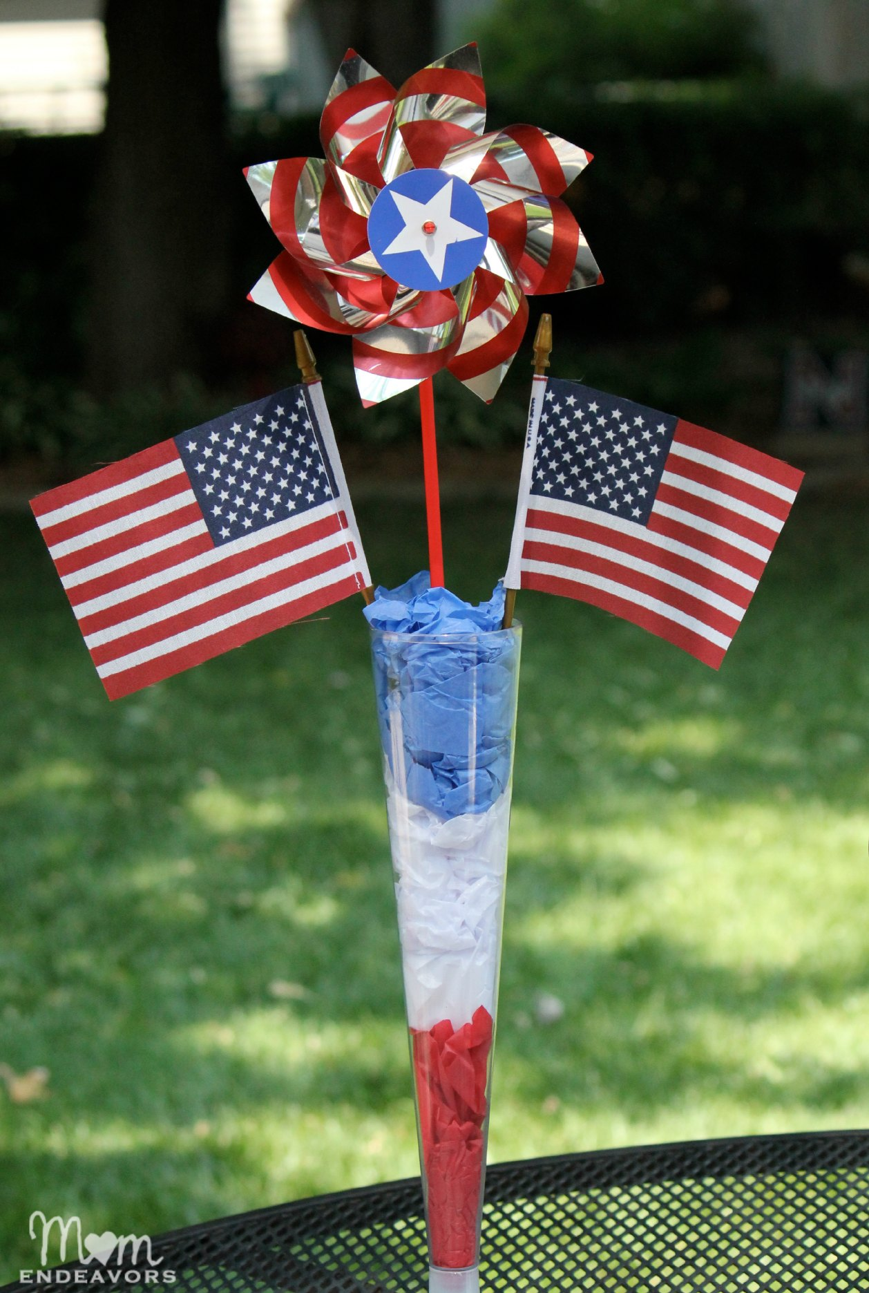 Easy Diy Patriotic 4th Of July Table Decor Mom Endeavors