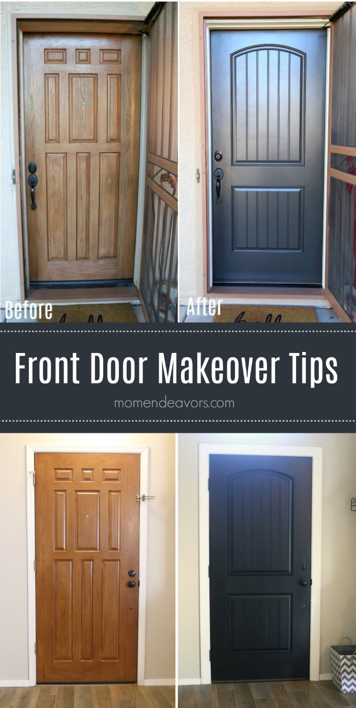 How To Paint Brick Front Door Makeover Tips