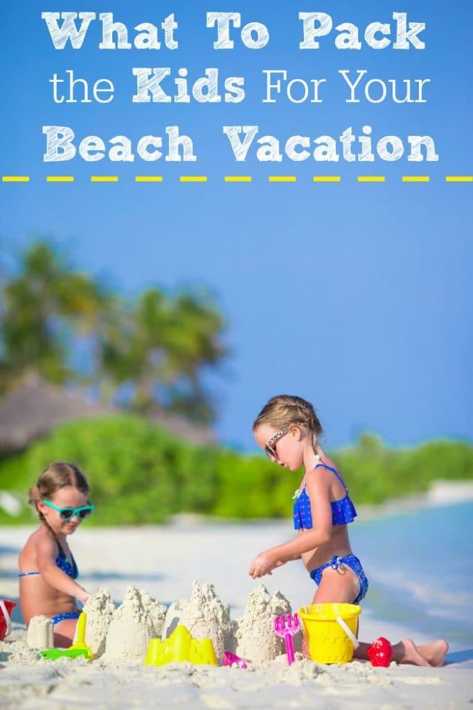 beach vacation pack list