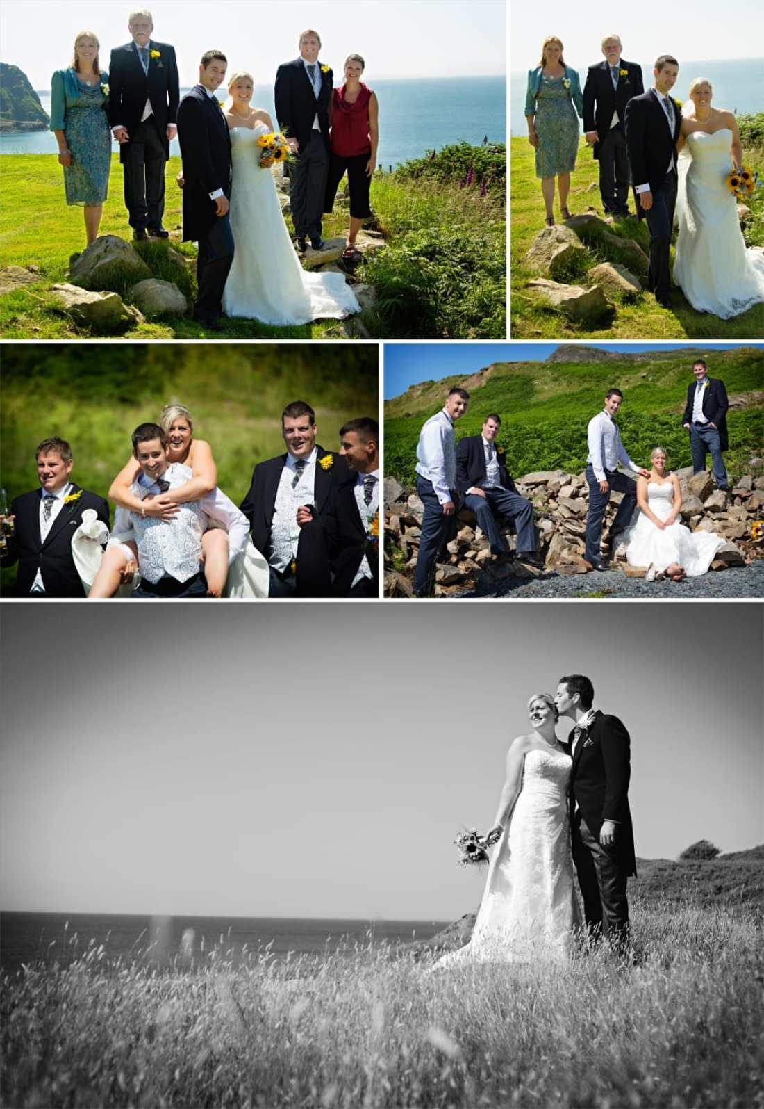 North Wales wedding - Family and Wedding Party