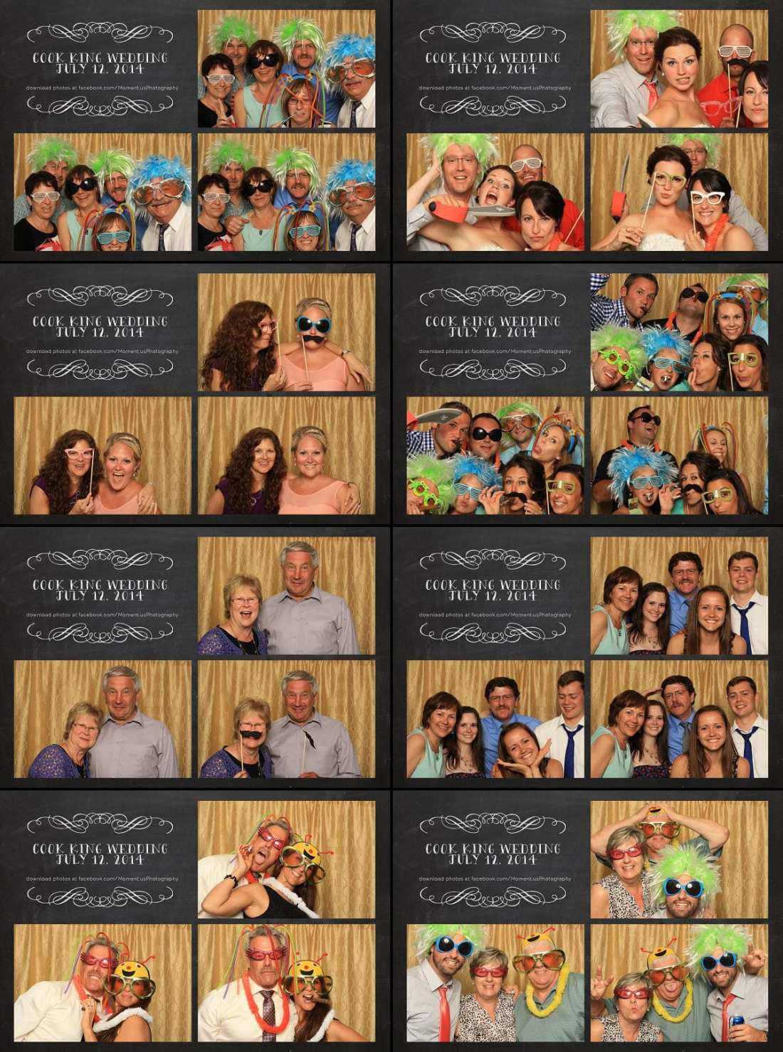 Outdoor Cornwall Wedding - photo booth with gold backgroun
