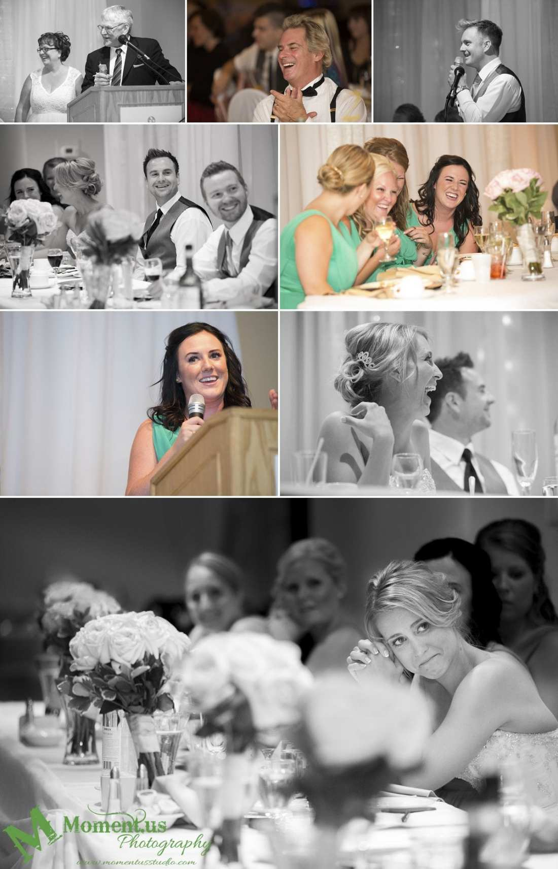 Elegant Cornwall wedding - bride crying during speeches