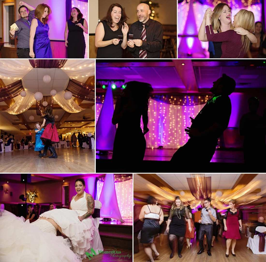 Alexandria wedding - pink uplighting guests dancing