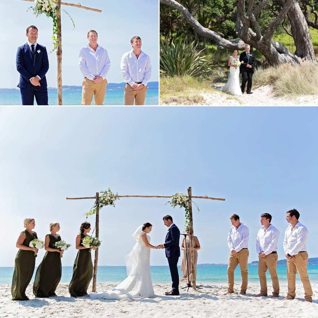 International wedding photographer in Cornwall - bride walking down beach