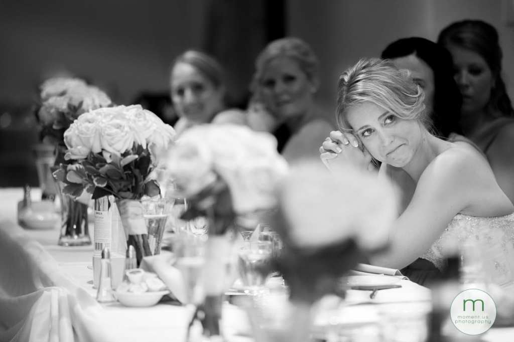 crying bride during speeches