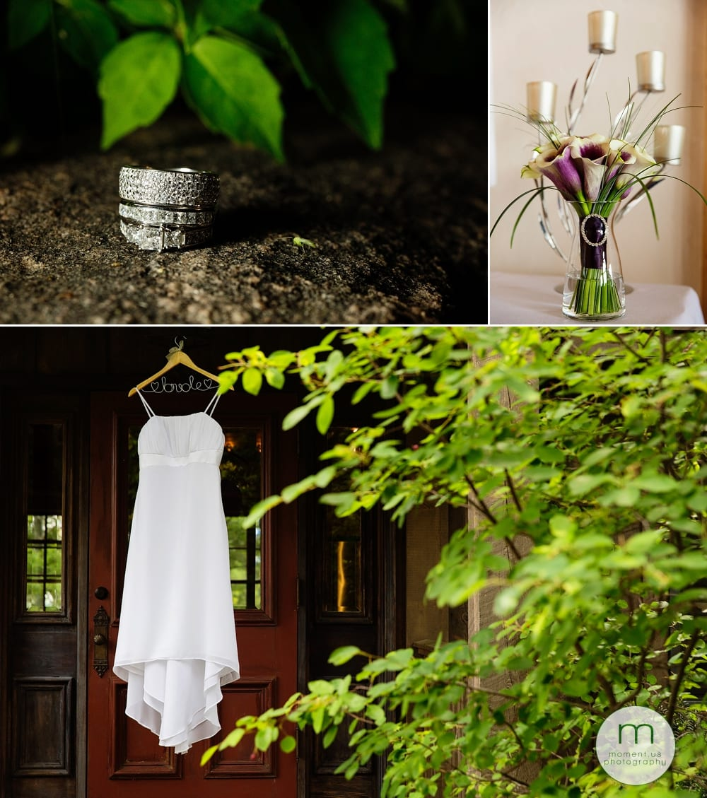 dress rings and flowers