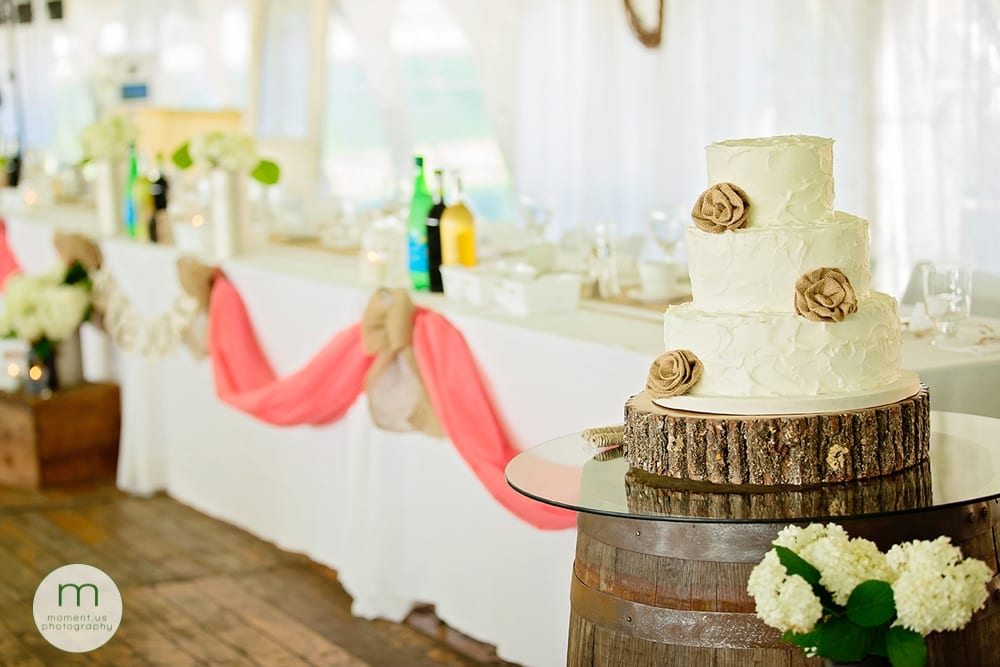 cake and head table